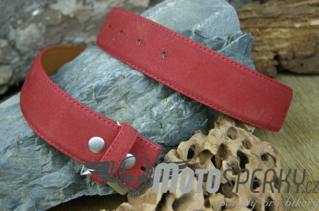 OPASEK VELVED REAL LEATHER RED
